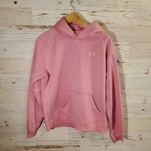Under Armour pink hooded sweatshirt